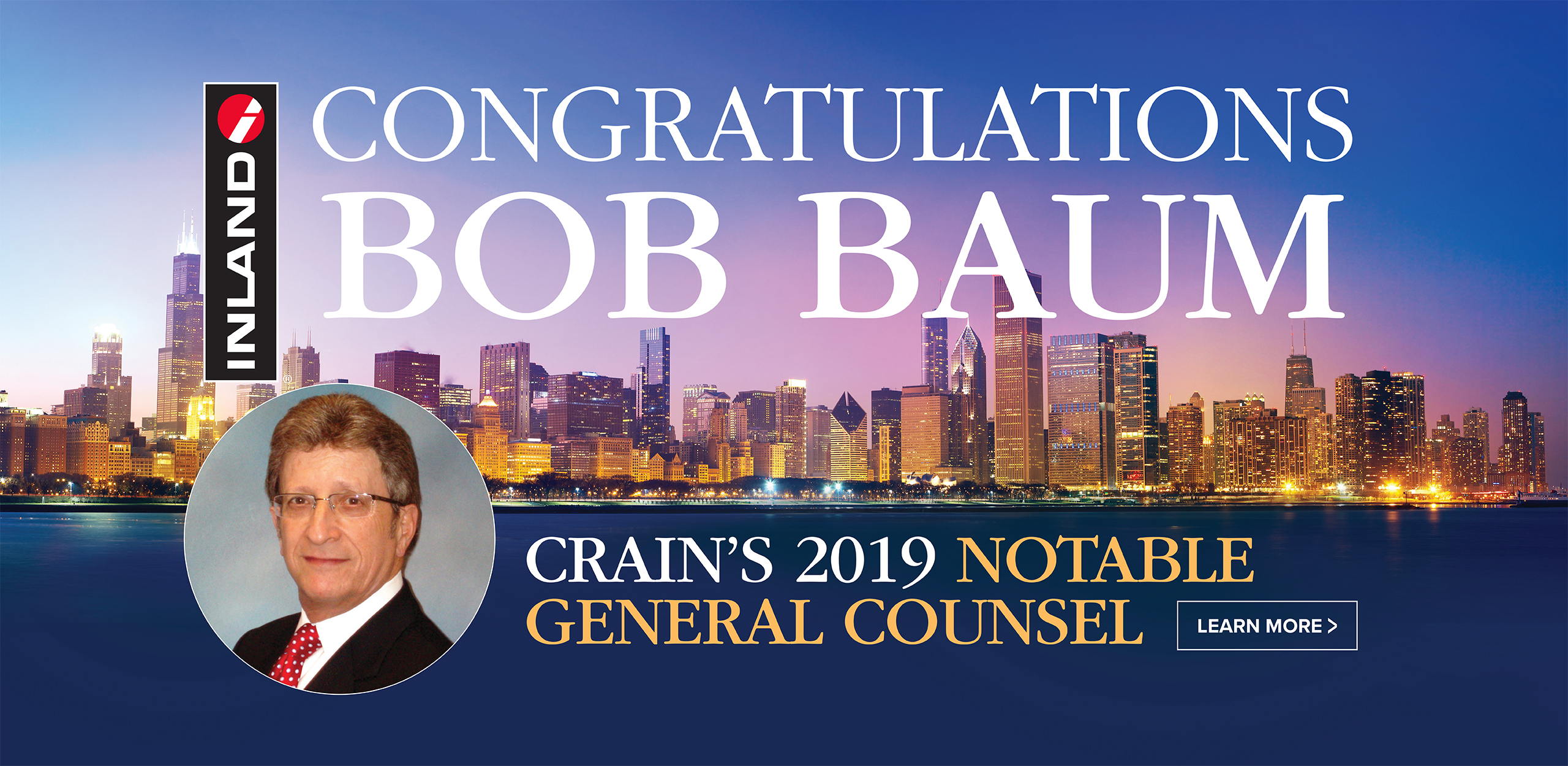 Bob Baum Crain's General Counsel Award 2019